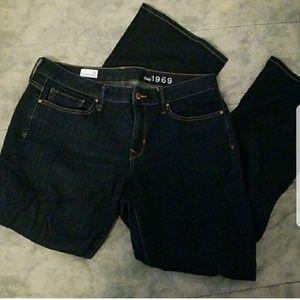 NWOT GAP 1969 dark wash Long & Lean jeans